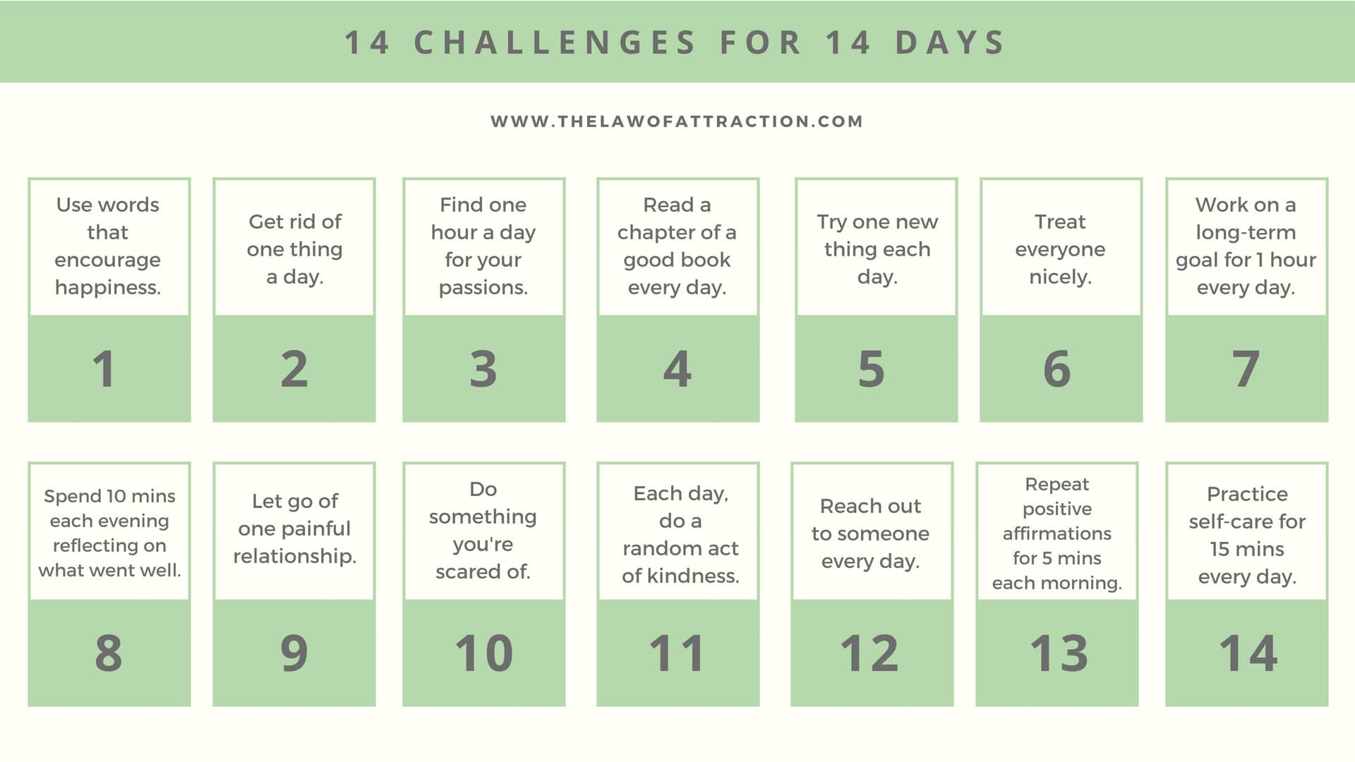 14 challenges for 14 days