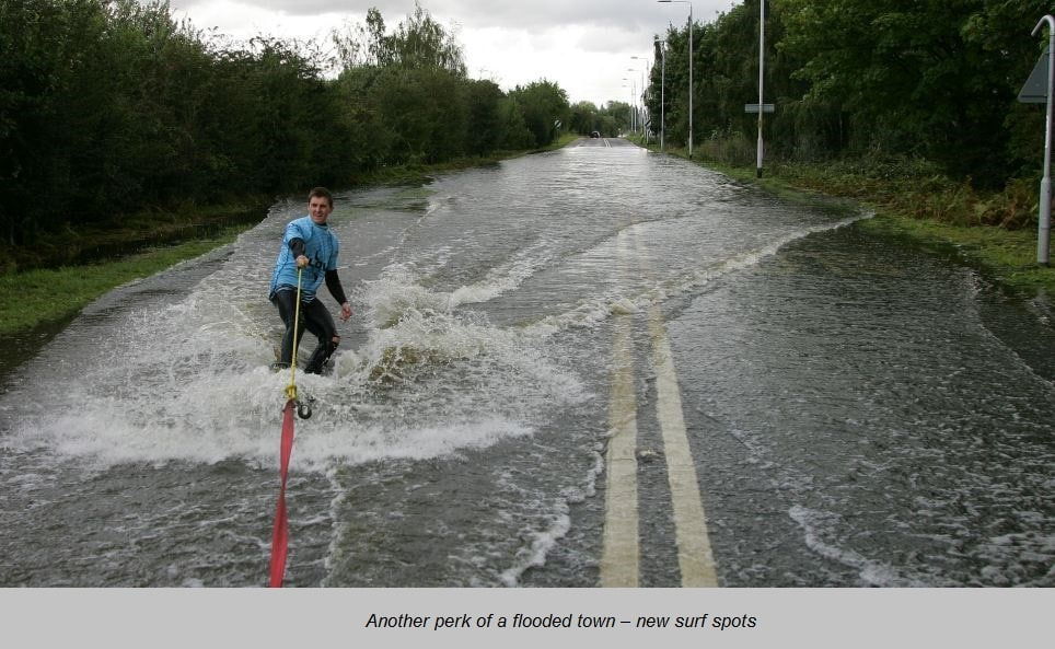 surfing after flood