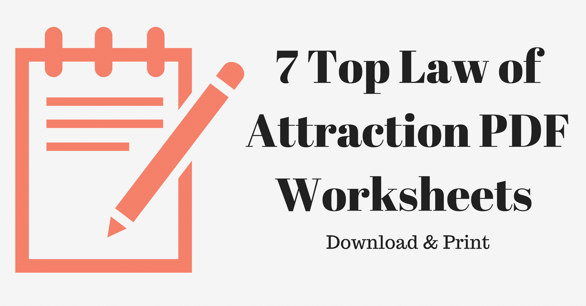 7 Free Law of Attraction PDF Worksheets - Download & Print