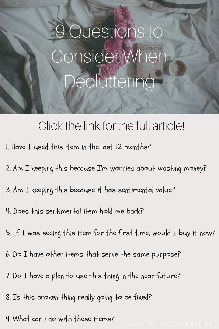 9 questions to consider when decluttering