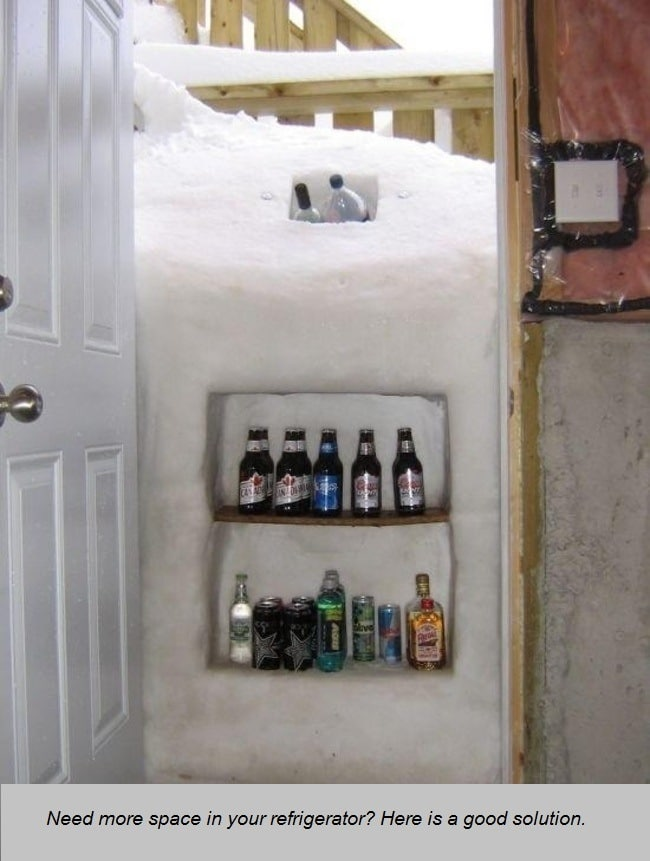 fridge in the snow