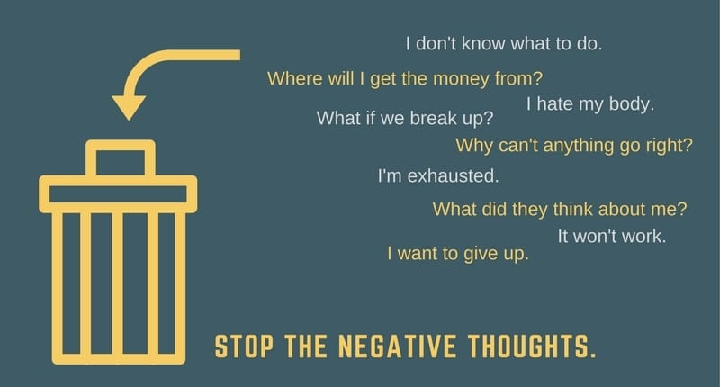 Bin the negative thoughts