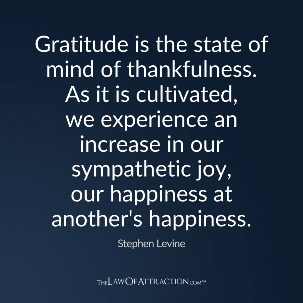 Gratitude Quote By Stephen Levine