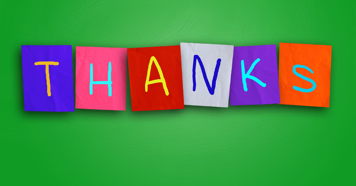 A Reminder to Say 'Thank You'