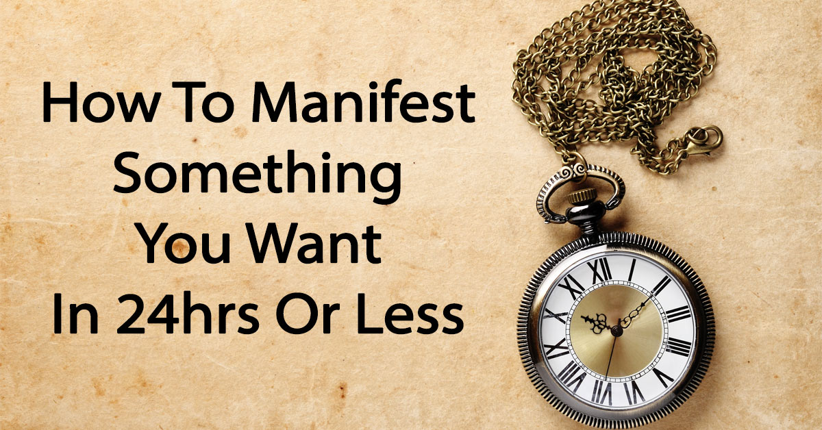 How to manifest what you want in life