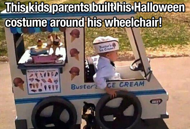This child's parents built his Halloween costume around his wheelchair. Best parents ever?