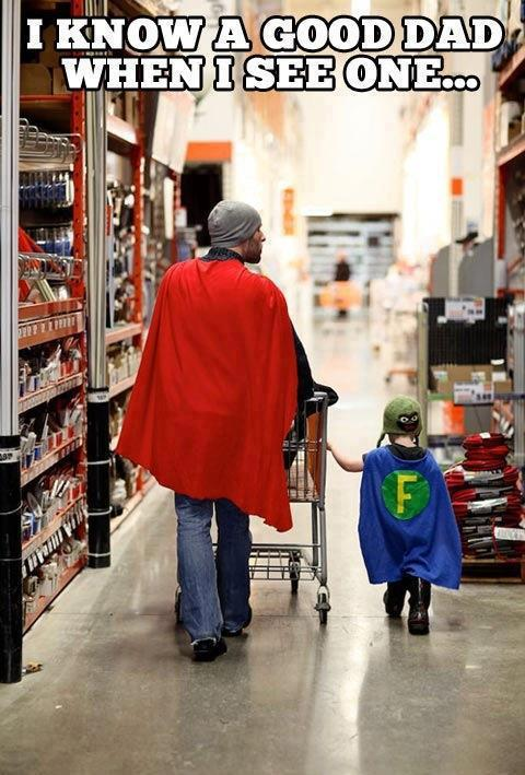 Incredible Dad spends the day with his son.